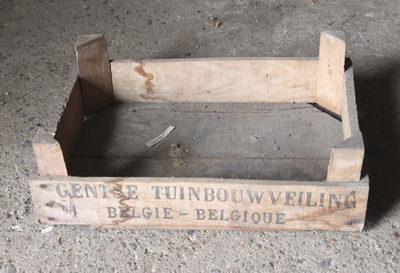 Kist van de Gentse tuinbouwveiling om divers fruit te verpakken.