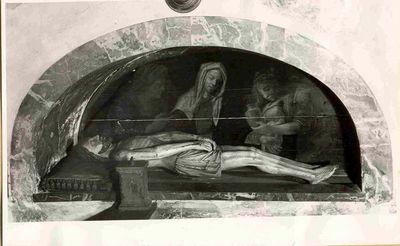Treurende heilig vrouwen bij het graf