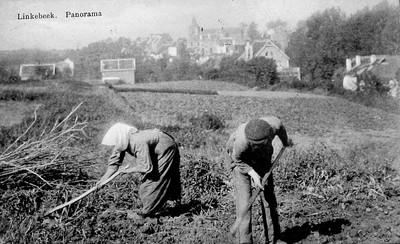 Werken op het veld in Linkebeek