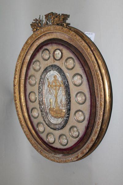 Lijst met kruisreliek en andere heiligen