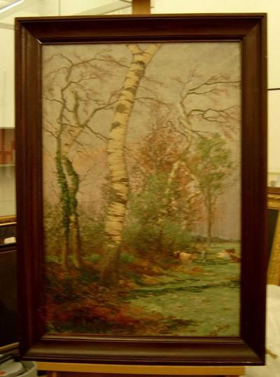 Djef Anten (1851-1913), Langs de Demer, s.d., olie op doek.