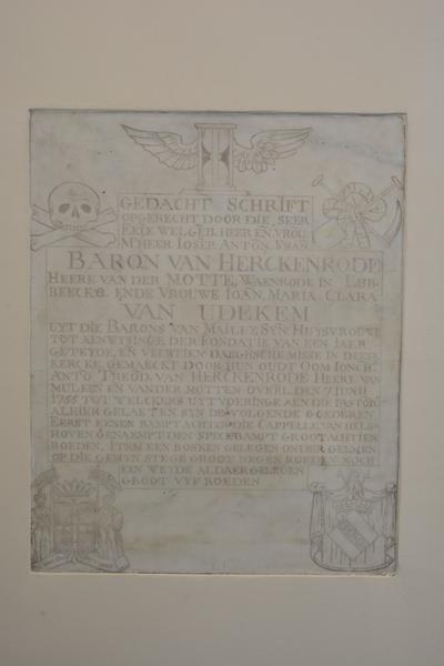 Grafmonument Baron Joseph Antoine Francois de Herckenrode en Joanna van Udekem