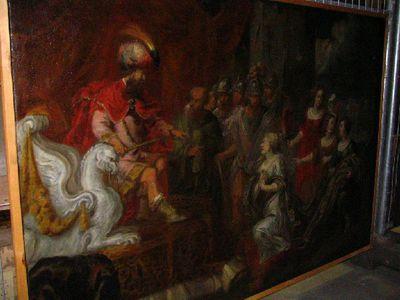 Esther pleit bij Xerxes ten gunste van de Joden