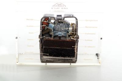 CO-filter zelfredder (doorsnede)