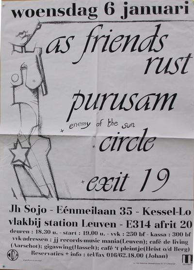 As Friends Rust, Purusam, Circle e.a.