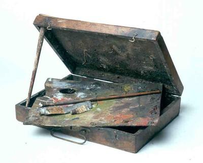 Schildersdoos Djef Anten (1851-1913), s.d., hout en verfproducten.