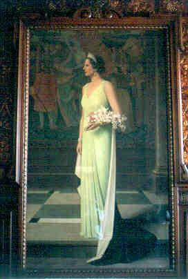 Jos Damien (1879-1973), kunstschilder, Anne Rutten (1898-1981), kunstschilder, Koningin Astrid, 1939, olie op doek.