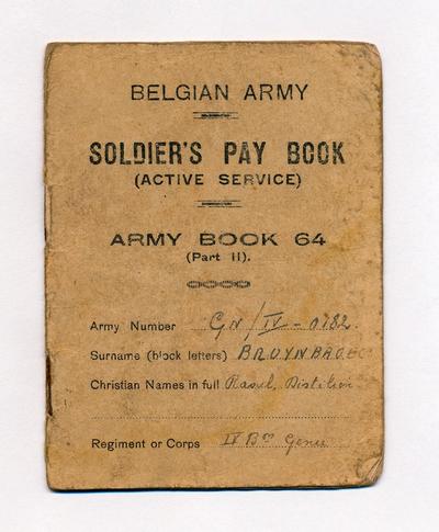 WOII - Boekje betalingen Belgisch leger, 1945