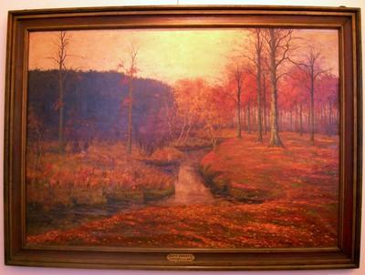 Arthur Erarts (1879-1939), De Kloosterbeek in de Herfst, s.d., olie op doek.