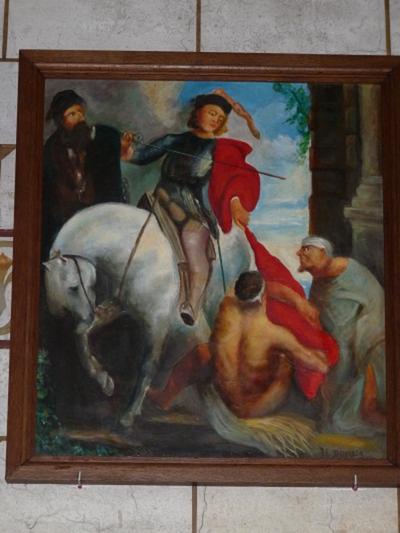 Schilderij van Sint-Martinus