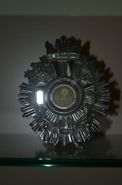 Reliekschildje met reliek van Heilige Wivina