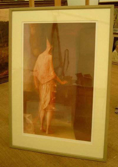 Erik Van Straelen, Schilderstok en penseel, s.d., pastelkrijt op papier.