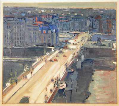 Jacques Leduc (1921-2013), Le Pont Neuf (Parijs), 1967, olie op doek.