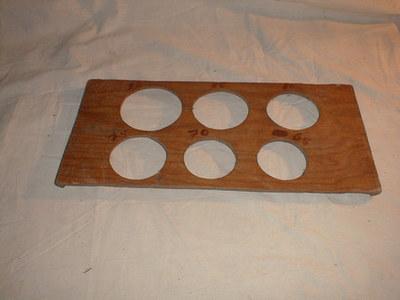 Plaat om de dikte van appels en peren te meten