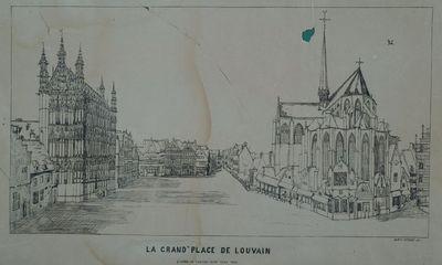 La Grand'Place de Louvain. D'àprès un tableau peint vers 1650.