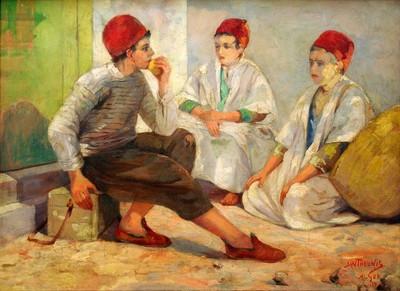 Jan Theunis (1898-1934), Alger, 1928, olie op doek.