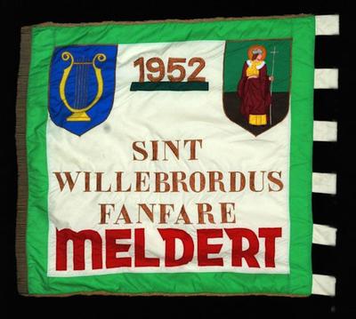 Vlag van de Koninklijke Sint-Willibrordusfanfare Meldert