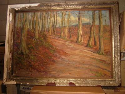 L. Thonissen, Landschap, s.d., olie op doek.
