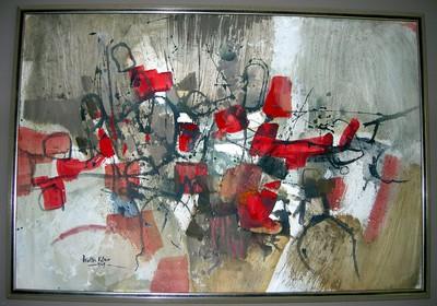 Walter Vilain (°1938), Abstracte compositie, 1969, olie op doek.