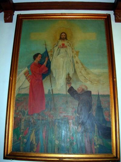 Samuel De Vriendt (1884-1974), Toewijding van het Heilig Paterke aan het Heilig Hart, 1928, olie op doek.