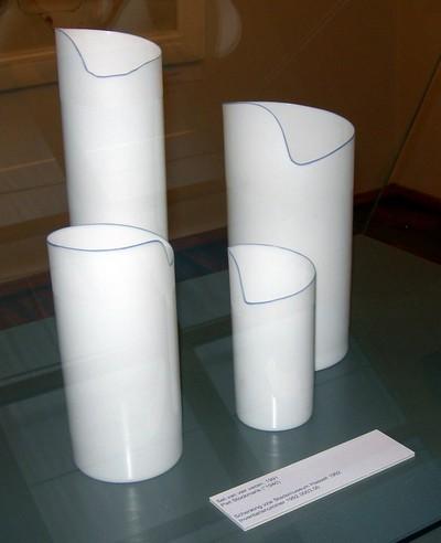 Pieter Stockmans (°1940), set van vier vazen, 1991, porselein, deels geglazuurd.