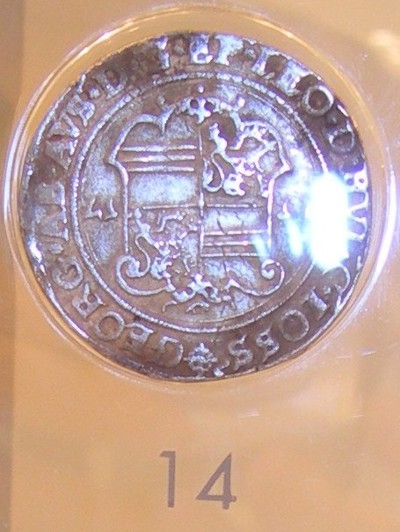 Daalder, geslagen in Hasselt, 16e eeuw, 1544-1557 (prins-bisschop Joris van Oostenrijk als graaf van Loon), zilver.