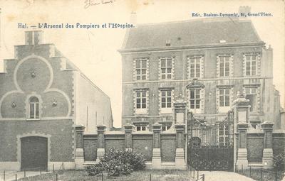 Halle - Brandweerkazerne en hospice, ca. 1905-15