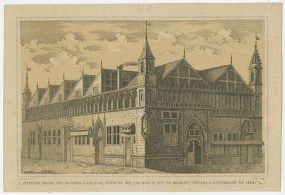 L'ancienne Halle des Drapiers à Louvain, bâtie en 1817, que Jean IV, Duc de Brabant, concéda à l'université en 1424