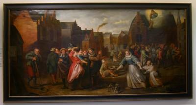 Anoniem, Het mirakel van de schaliedekker, 17de eeuw, olie op doek.