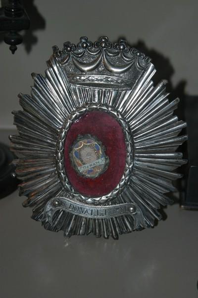 Reliekschildje met reliek van Heilige Donatus