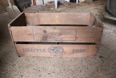 Kist waarin appelsienen werden verpakt