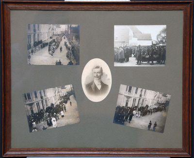 Anoniem, fotolijst overbrenging - herbegrafenis gesneuvelden W.O. I De Panne, s.d.
