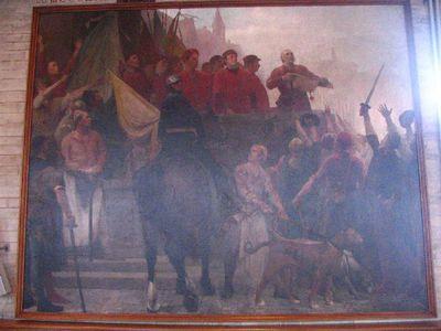 Pieter Coutereel verscheurt de privilegies van de patriciërs voor het volk