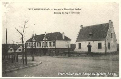 Cité Winterslag - Vue sur la Chapelle et Ecoles