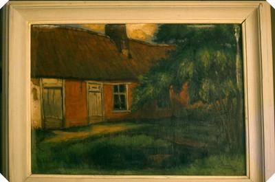 Herman Van Der Avoort (1894-1976), De poel, 1941, olie op doek.