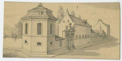 Voorgevel van het anatomisch amfitheater in Leuven