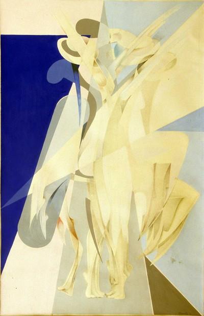 Willy Beenaerts (°1949), De dans, 1973, papier, gouache.