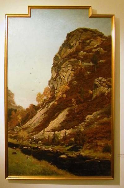 Djef Anten (1851-1913), Kwartsietrotsen van Falize (Malmedy), ca. 1884, olie op doek.