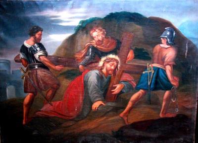 Kruisweg Statie 9 – Jezus valt voor de derde maal