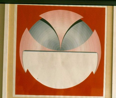 Willy Beenaerts (°1949), Abstracte compositie, 1973, gouache.