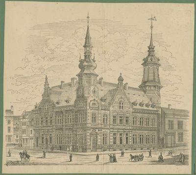 Het postgebouw in Leuven