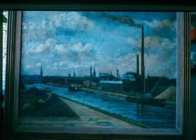 Lodewijk Marie De Borman (1879-1965), De haven van Hasselt, 1953, olie op doek.