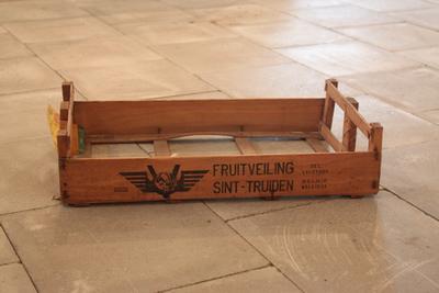 Verloren verpakking van de fruitveiling van Sint-Truiden voor allerlei fruit