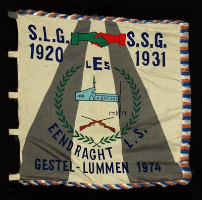 Vlag van schuttersgilde eendracht L. S. Gestel