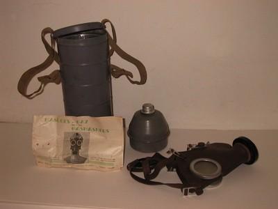 Anoniem, gasmasker uit de Tweede Wereldoorlog, ca. 1940-1945, rubber, glas, metaal.