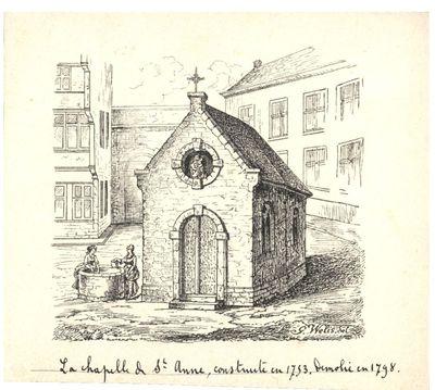 La chapelle de St Anne, construite en 1753. Démolie en 1798