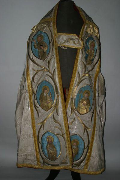 Koorkapschild met Franciscus en Dominicus