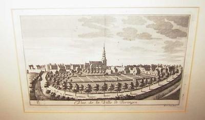 Remacle Le Loup (1694-1746), Vue de la Ville de Beringen, 1740, papier, kopergravure.