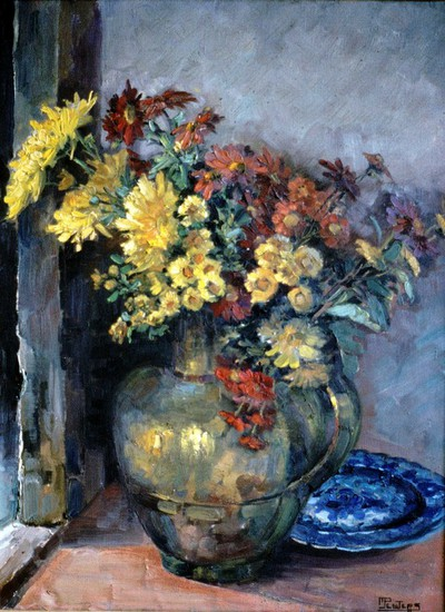 Jeannot Peeters (1909-1996), Bloemstuk, s.d., olie op doek.