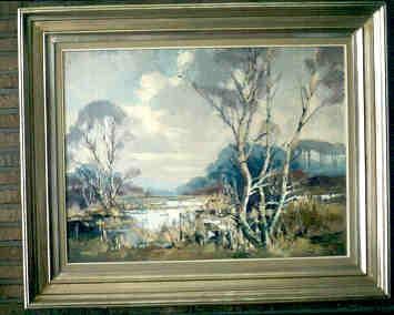 Jeannot Peeters (1909-1996), Vennen van Bokrijk, s.d., olie op doek.